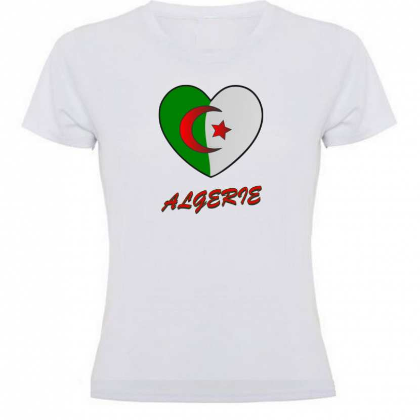 tee shirt algerie femme enfant homme coeur d 39 alg rie. Black Bedroom Furniture Sets. Home Design Ideas
