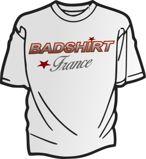 LOGO T-SHIRT BADSHIRT FRANCE blanc 300-320 4