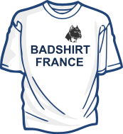 LOGO T-SHIRT BADSHIRT FRANCE