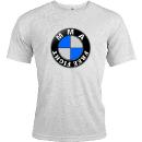 T-SHIRT MMA 10 IMATATION LOGO BMW | TEE SHIRT FREE FIGHT BLANC 130